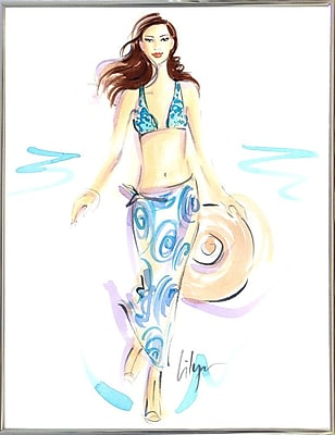 East Urban Home 'Wave Hello' Print; Silver Metal Framed Paper