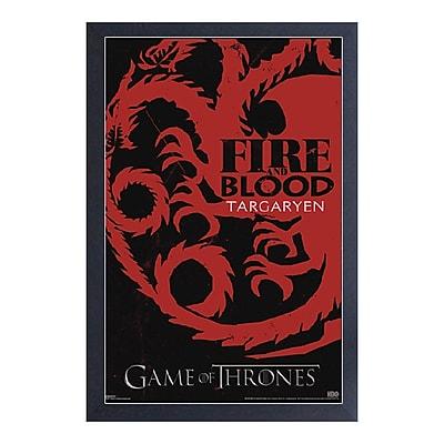 East Urban Home 'Game of Thrones-Targaryen' Framed Graphic Art Print