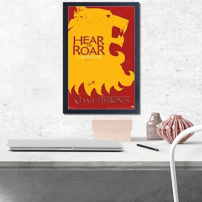 East Urban Home 'Game of Thrones-Lannister' Framed Graphic Art Print