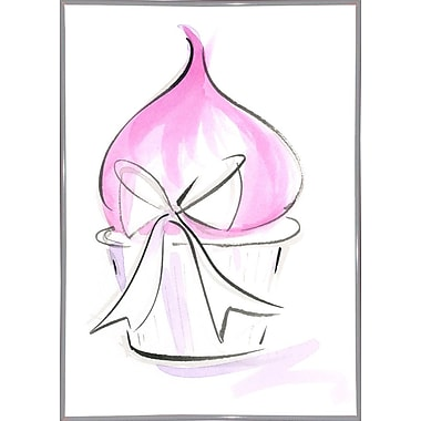 East Urban Home 'Cupcake-9' Print; White Metal Framed Paper