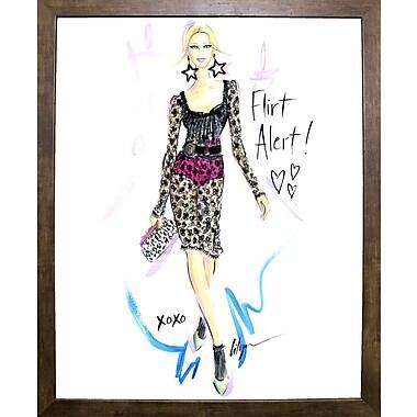 East Urban Home 'Flirt Alert' Print; Cafe Mocha Framed Paper