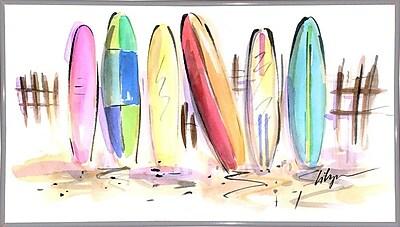 Harriet Bee 'Surf's Up' Print; White Metal Framed Paper
