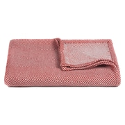 Ivy Bronx Busick Handcrafted Cotton Throw; Red / White