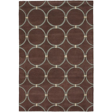 Orren Ellis Yiwei Brown/Beige Area Rug; 7'9'' x 10'6''