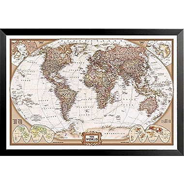 Bloomsbury Market 'National Geographic Map Executive Style' Rectangle Framed Print