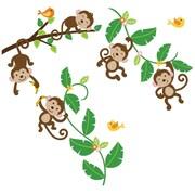 CherryCreekDecals Five Little Monkeys Nursery Wall Decal