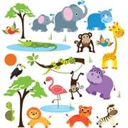 CherryCreekDecals Safari Adventure Nursery Wall Decal