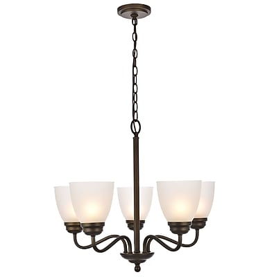 Charlton Home Hampton 5-Light Candle-Style Chandelier; Oil Rubbed Bronze
