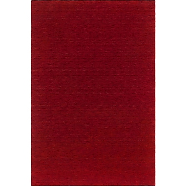 Orren Ellis Kai-Chi Textured Contemporary Wool Red Area Rug; 5' x 7'6''