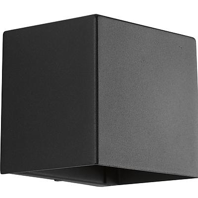 Orren Ellis Ro 1-Light Flush Mount; Black