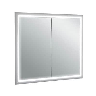 Orren Ellis Saakshi 33'' x 30.2'' Surface Mount Medicine Cabinet w/ LED Lighting