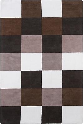 Orren Ellis Yiwei White Geometric Area Rug; 4' x 6'