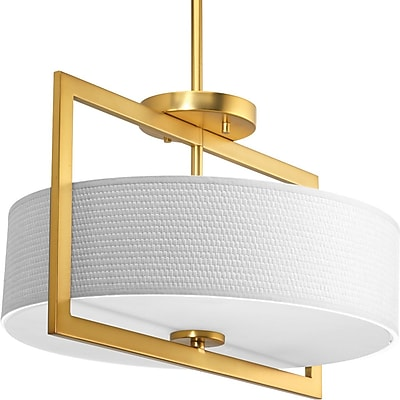Orren Ellis Urmee 3-Light Semi Flush Mount; 10.5'' x 16.9375''