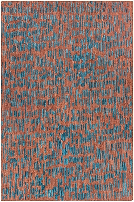 Orren Ellis Kirtley Hand-Tufted Brown/Blue Area Rug; 7'9'' x 10'6''