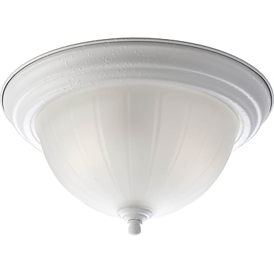Winston Porter Boonville 2-Light Flush Mount; White