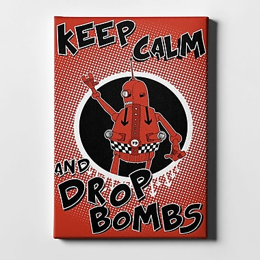 Varick Gallery 'Keep Calm and Drop Bombs' Giclee Graphic Art Print on Canvas