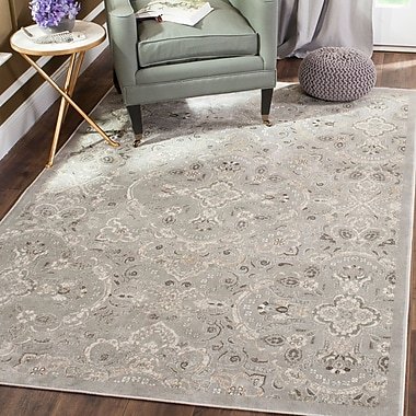 Astoria Grand Attamore Silver Area Rug; Rectangle 6'-7'' x 9'-2''