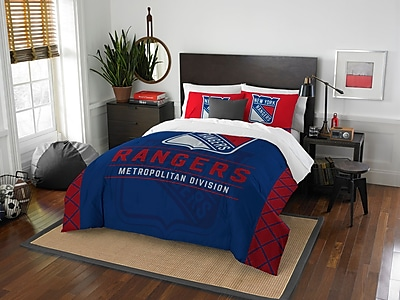 Northwest Co. NHL NY Rangers Draft 3 Piece Full/Queen Comforter Set