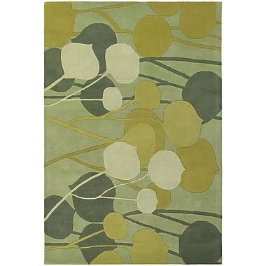 Latitude Run Stoltz Lime Area Rug; 5' x 7'6''