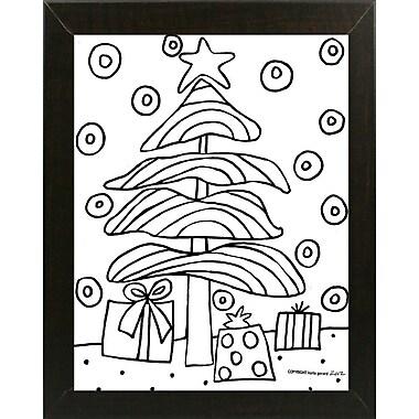 Winston Porter 'Christmas Tree' Print; Brazilian Walnut Wood Medium Framed Paper