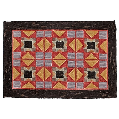 August Grove Cherwell Hand Tufted Wool Red Area Rug; 2' x 8'