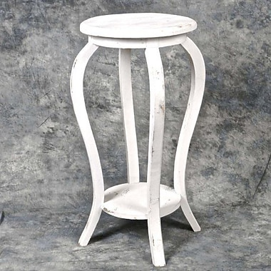 August Grove Glenfield Wooden Plant Stand; White