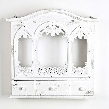 August Grove Guttenberg Wooden Wall Shelf w/ Drawers; White