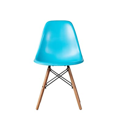 Brayden Studio Bonetti Mid Century Dining Chair (Set of 4); Blue