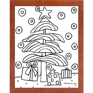 Winston Porter 'Christmas Tree' Print; Canadian Walnut Wood Medium Framed Paper