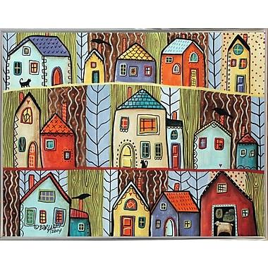 Winston Porter 'Neighbors' Print; Silver Metal Framed Paper