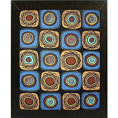Winston Porter '20 Blooms' Print; Brazilian Walnut Wood Medium Framed Paper