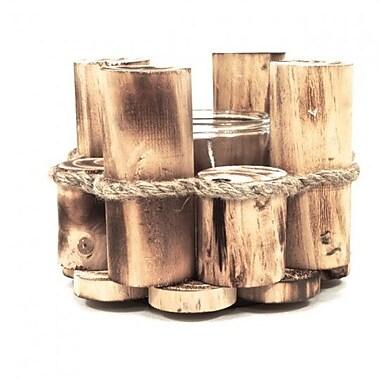 Loon Peak Wood Tealight Holder