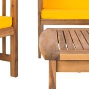 Mistana Simmons Outdoor 4 Piece Conversation Set w/ Cushions