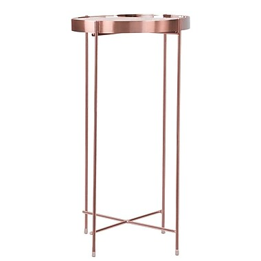 Mercer41 Farina End Table; Rose Gold