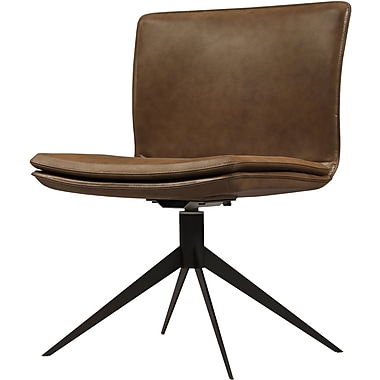 Modloft Duane Desk Chair; Aged Caramel