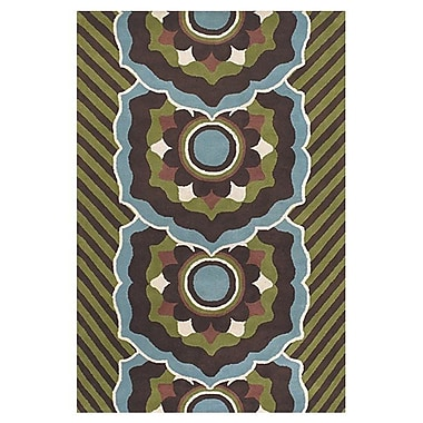 East Urban Home Green/Blue Area Rug; Rectangle 2' x 3'