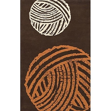 East Urban Home Brown/Orange Area Rug; Rectangle 7'9'' x 10'6''