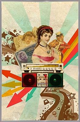 East Urban Home 'Retro Radio' Framed Graphic Art Print; White Metal Framed Paper