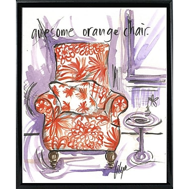 East Urban Home 'Awesome Orange Chair' Print; Black Metal Framed Paper