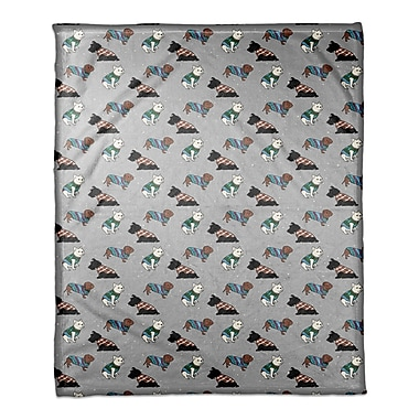 East Urban Home Sweater Dogs Blanket; 30'' W x 40'' L