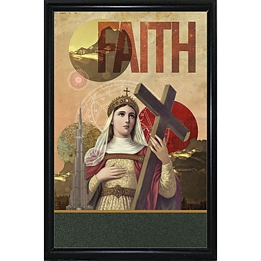 East Urban Home 'Rise of Mary' Framed Graphic Art Print; Wood Floater Framed Wrapped Canvas