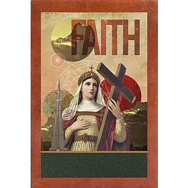 East Urban Home 'Rise of Mary' Framed Graphic Art Print; Canadian Walnut Wood Medium Framed Paper