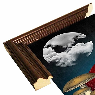 East Urban Home 'Uncertain Future' Framed Graphic Art Print; Cherry Wood Grande Framed Paper