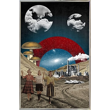 East Urban Home 'Uncertain Future' Framed Graphic Art Print; Silver Metal Framed Paper