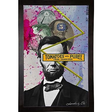East Urban Home 'Lincoln' Framed Graphic Art Print; Cafe Espresso Wood Framed Paper
