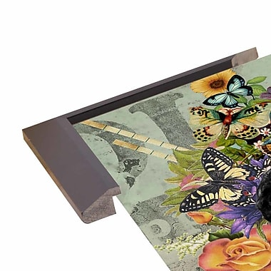 East Urban Home 'Liz Taylor' Framed Graphic Art Print; Wood Floater Framed Wrapped Canvas