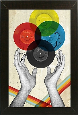 East Urban Home 'The Creation of Retro' Framed Graphic Art Print
