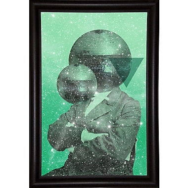 East Urban Home 'Green Universe' Framed Graphic Art Print; Wrapped Canvas