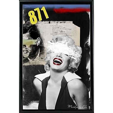 East Urban Home 'Marilyn' Framed Graphic Art Print; Black Metal Framed Paper