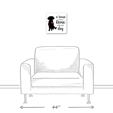 East Urban Home 'House Home Dog' Textual Art on Canvas; 12'' H x 12'' W